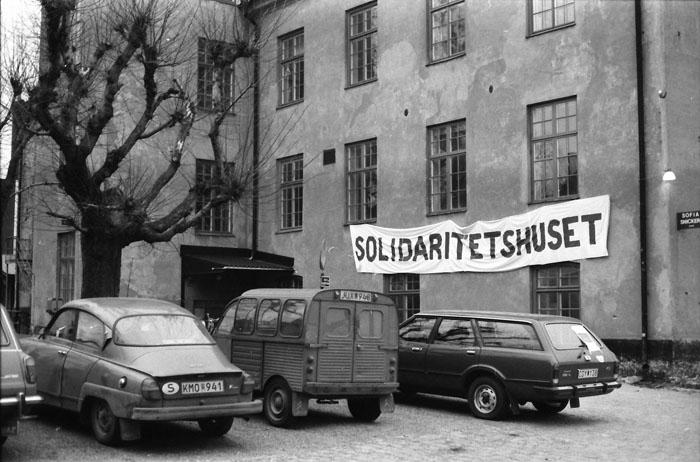 Solidaritetshuset 1980 foto: Kjell Johansson